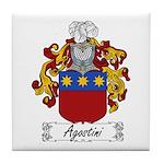 Agostini Family Crest Tile Coaster
