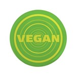 3.5 inch Green Vegan Button (100 pack)