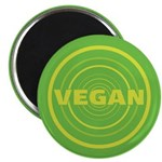 2.25 inch Green Vegan Magnet (100 pack)