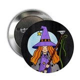 "Country Witch 2.25"" Button (10 pack)"