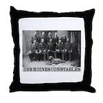 Des Moines Constables Throw Pillow