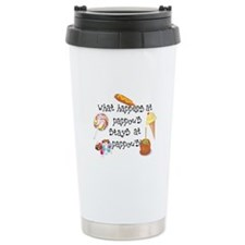 What Happens at Pappou's... Ceramic Travel Mug