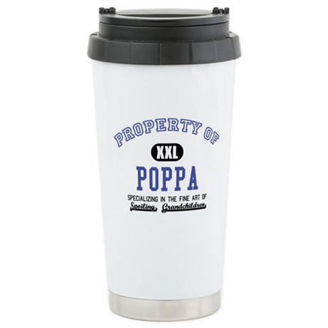 Property of Poppa Ceramic Travel Mug