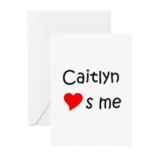 Unique Heart caitlyn Greeting Cards (Pk of 10)