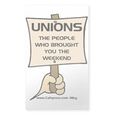 Union Weekends Rectangle Decal