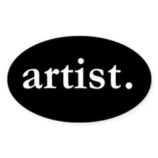Artist Oval Stickers