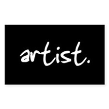 artist. Rectangle Decal