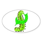 Hungry Worm Oval Decal