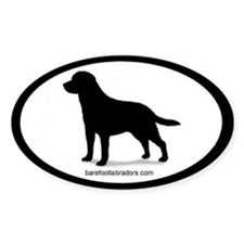 Lab Silhouette Oval Decal