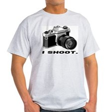 """I shoot."" BW Ash Grey T-Shirt"