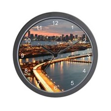 Miami Skyline Wall Clock