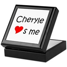 Cute Cheryl heart Keepsake Box
