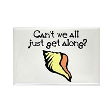 Can't we all just get along? Rectangle Magnet
