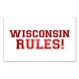 Wisconsin Rules Rectangle Sticker 10 pk)