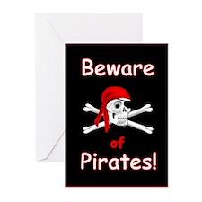 Beware of Pirates Greeting Cards (Pk of 20)