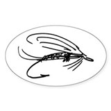 Wet Fly Lure Oval Decal