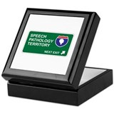 Speech, Pathology Territory Keepsake Box