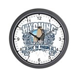 Save the Penguin Wyoming Wall Clock
