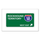Rockhound Territory Rectangle Decal