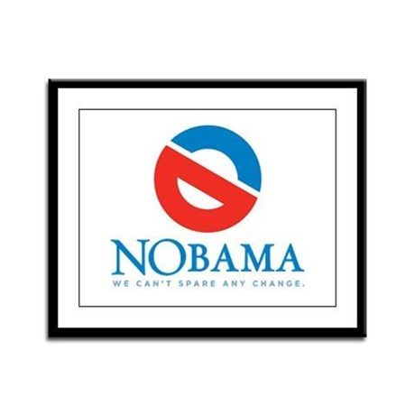 NOBAMA anti Obama Framed Panel Print