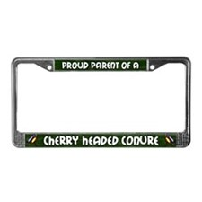 Proud Parent Cherry Headed License Plate Frame