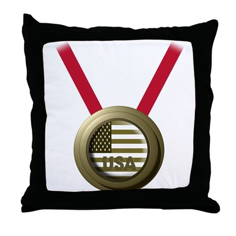 USA GOLD Throw Pillow