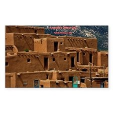 Taos Pueblo Rectangle Sticker 10 pk)