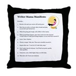 Writer Mama Throw Pillow