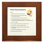 Writer Mama Framed Tile