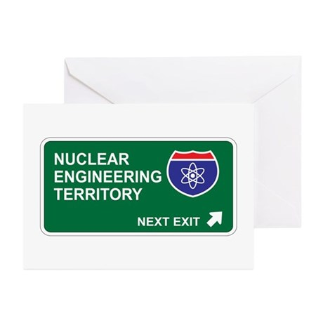 Nuclear, Engineering Territory Greeting Cards (Pk
