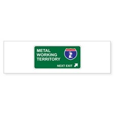 Metal, Working Territory Bumper Sticker (50 pk)