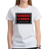 Beware of Owner Bulldog Tee