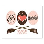 Peace Love Row Crew Small Poster