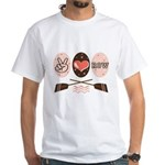 Peace Love Row Crew White T-Shirt