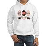 Peace Love Row Crew Hooded Sweatshirt