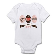 Peace Love Row Crew Infant Bodysuit