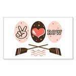 Peace Love Row Crew Rectangle Sticker 10 pk)