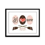 Peace Love Row Crew Framed Panel Print