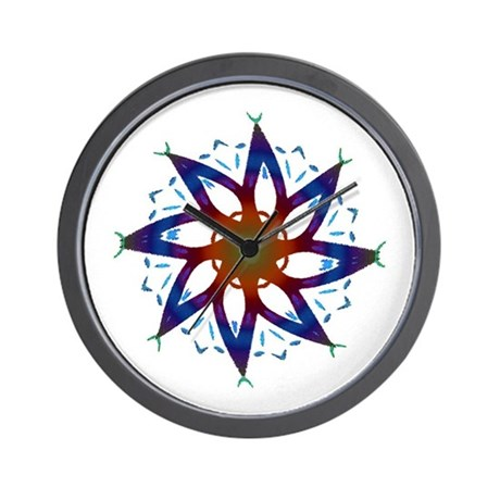 Whirling Star Wall Clock