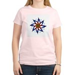Whirling Star Women's Pink T-Shirt