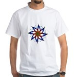 Whirling Star White T-Shirt