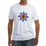 Whirling Star Fitted T-Shirt