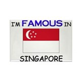 I'd Famous In SINGAPORE Rectangle Magnet