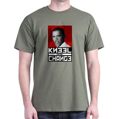 Obama Kneel Before Change Dark T-Shirt
