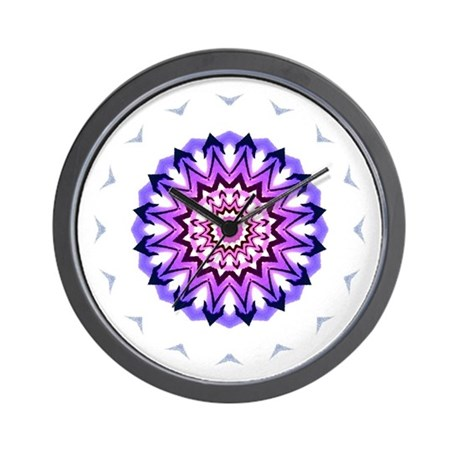 Purple Sun Wall Clock