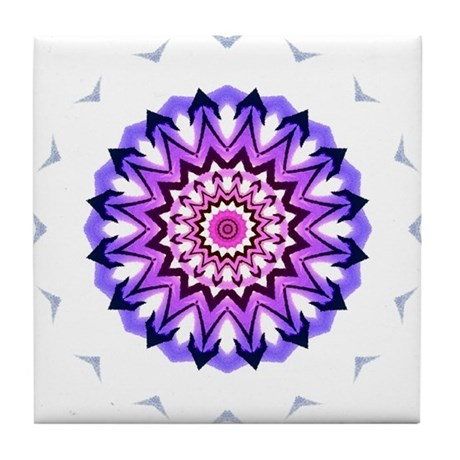 Purple Sun Tile Coaster