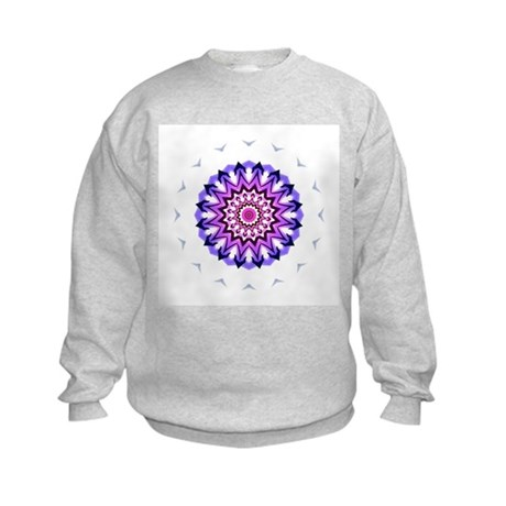 Purple Sun Kids Sweatshirt