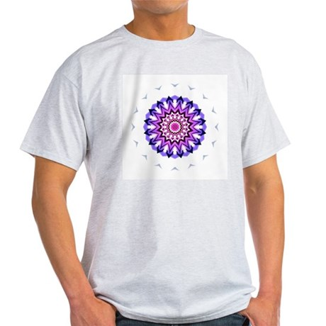 Purple Sun Ash Grey T-Shirt