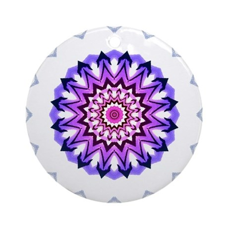 Purple Sun Keepsake (Round)
