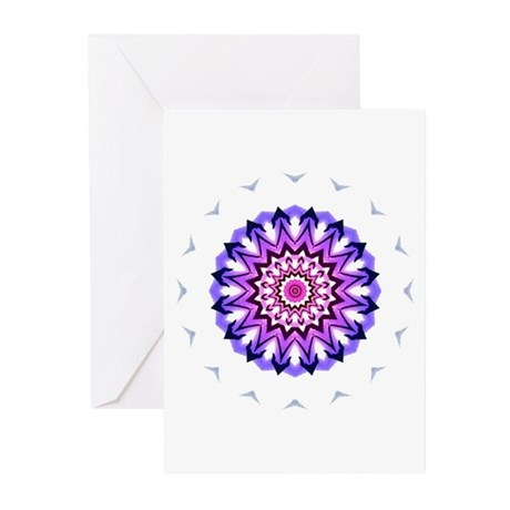 Purple Sun Greeting Cards (Pk of 10)